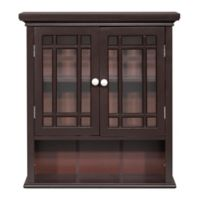 Hadley 2-Door Bath Wall Cabinet in Dark Espresso