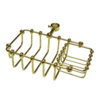 Kingston Brass Tub Riser Mount Bathtub Caddy in Polished Brass