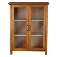 Elegant Home Fashions Tabitha 2-Door Floor Cabinet in Oak