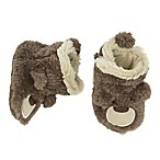 carter's® Size 6-12M Bear Slipper Crib Shoes in Brown
