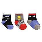 carter's® Size 12-24M 3-Pack Monsters Crew Socks