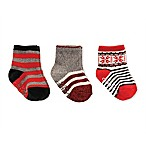 carter's® Size 3-12M 3-Pack Fairisle Socks in Red