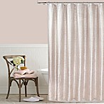 Celina 54-Inch x 78-Inch Metallic Shower Curtain in Pink