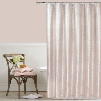 celina 72inch x 72inch metallic shower curtain in pink