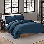 Garment Washed Solid Full/Queen Duvet Cover Set in Peacock