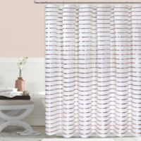 Colordrift Sequin Stripe 54-Inch x 78-Inch Shower Curtain in Gold