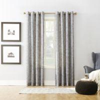 Xinnia 63-Inch Grommet Top Window Curtain Panel in Grey