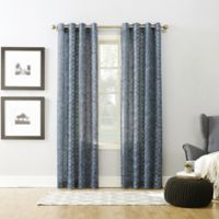 Xinnia 63-Inch Grommet Top Window Curtain Panel in Indigo