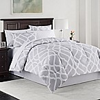 Kiley 8-Piece Queen Comforter Set in Grey