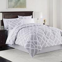 Kiley 8-Piece Queen Comforter Set in Grey