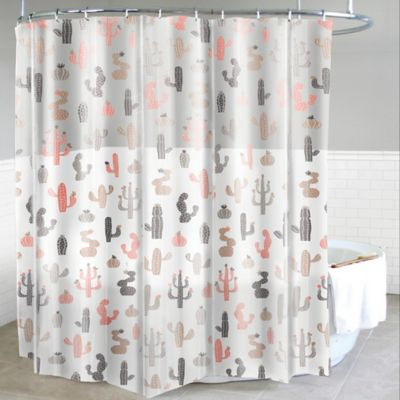 orange and gray shower curtain. Mojave PEVA Shower Curtain in Blush Buy Vinyl from Bed Bath  Beyond
