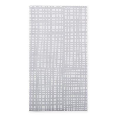 Caspari 12 Count Raffine Paper Guest Towel Napkin In Silver