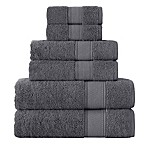 Grund Turkish Certified 100% Organic Cotton Towels in Slate Grey (Set of 6)