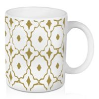 Designs Direct Gold Tile 11 oz. Coffee Mug in White