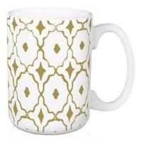 Designs Direct Gold Tile 15 oz. Coffee Mug in White