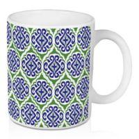 Designs Direct Green Tile 11 oz. Coffee Mug in Blue