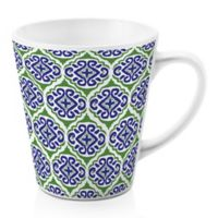 Designs Direct Green Tile 12 oz. Latte Mug in Blue