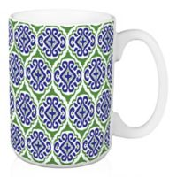 Designs Direct Green Tile 15 oz. Coffee Mug in Blue