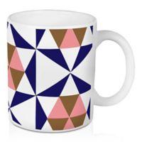 Designs Direct Geometric Stars 11 oz. Coffee Mug in Blue