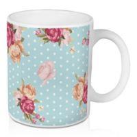 Designs Direct Floral Dot 11 oz. Coffee Mug in Blue