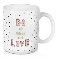 "Designs Direct ""Do All Things with Love"" 11 oz. Coffee Mug in Pink"