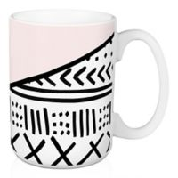 Designs Direct Aztec Style 15 oz. Coffee Mug in Pink