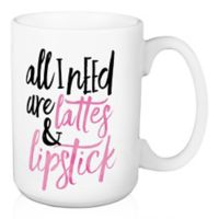 Designs Direct Lattes & Lipstick 15 oz. Coffee Mug