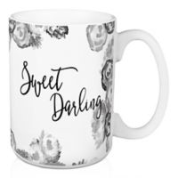 "Designs Direct ""Sweet Darling"" 15 oz. Coffee Mug in Grey"