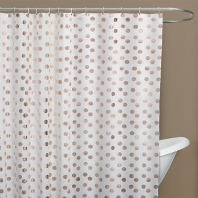 Dazzle Long Shower Curtain In Rose Gold
