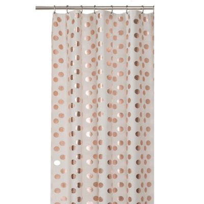 Dazzle Stall Shower Curtain In Rose Gold
