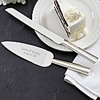 Modern Wedding Cake Knife & Server Set