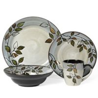 Pfaltzgraff Rustic Leaves 16-Piece Dinnerware Set