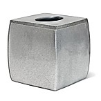 Veratex Glimmer Boutique Tissue Box Cover in Silver
