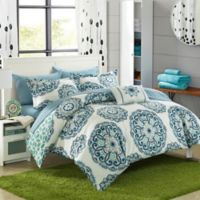 Chic Home Barella 6-Piece Reversible Twin Comforter Set in Green