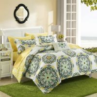 Chic Home Barella 8-Piece Reversible King Comforter Set in Yellow