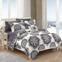 Chic Home Barella 8-Piece Reversible Full/Queen Comforter Set in Black