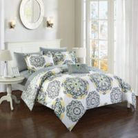 Chic Home Barella 6-Piece Reversible Twin Comforter Set in Grey