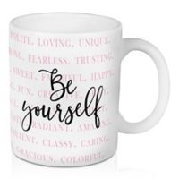 """Designs Direct """"Be Yourself"""" 11 oz. Coffee Mug in Pink"""