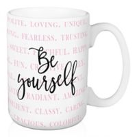 """Designs Direct """"Be Yourself"""" 15 oz. Coffee Mug in Pink"""