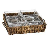 Artland® Garden Terrace Seagrass 4-Section Server