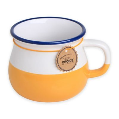 Multiple Choice® Two-Tone Stonenamel Mini Mug in Yellow