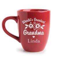"""World's Greatest Grandma"" Mug in Red"