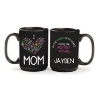 """I Love Mom"" Mug in Black"