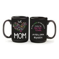 """We Love Mom"" Mug in Black"