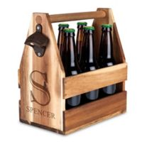 Wood Beer Caddy with Opener