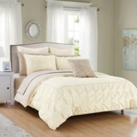 Chic Home Keppel 10-Piece Reversible Queen Comforter Set in Beige