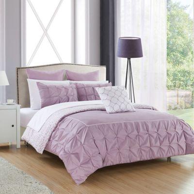 chic home keppel 10piece reversible king comforter set in lavender