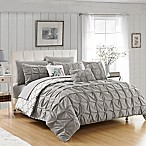 Chic Home Rahab Reversible 10-Piece Queen Comforter Set in Grey