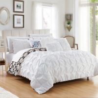 Chic Home Rahab Reversible 10-Piece Queen Comforter Set in White