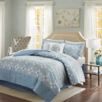 Madison Park Essentials Sybil 9-Piece Full Comforter Set in Blue